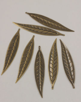 Eucalyptus leaf antique brass